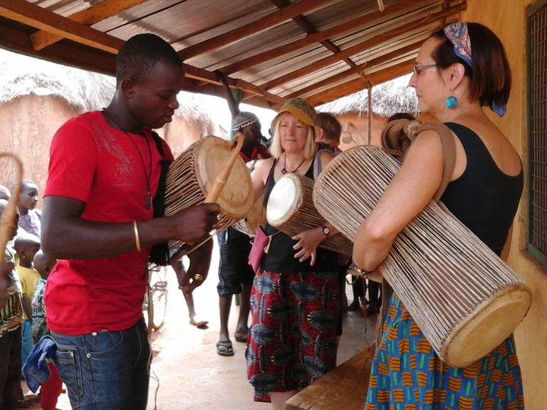 African Drum Lesson, Nanton